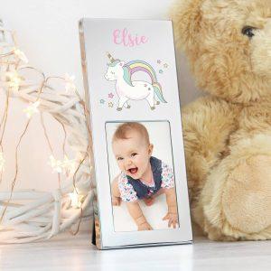 Personalised Baby Unicorn 3×2 Photo Frame