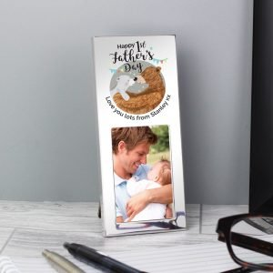 Personalised 1st Fathers Day Daddy Bear 3×2 Photo Frame