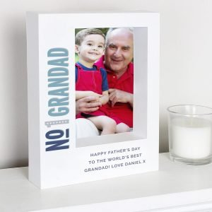 Personalised No.1 7×5 Box Photo Frame