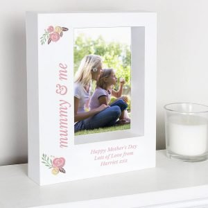Personalised Floral 7×5 Box Photo Frame
