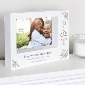 Personalised Couples Initials 7×5 Landscape Box Photo Frame