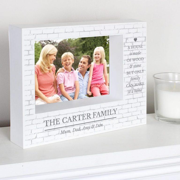 Personalised Family 7×5 Landscape Box Photo Frame