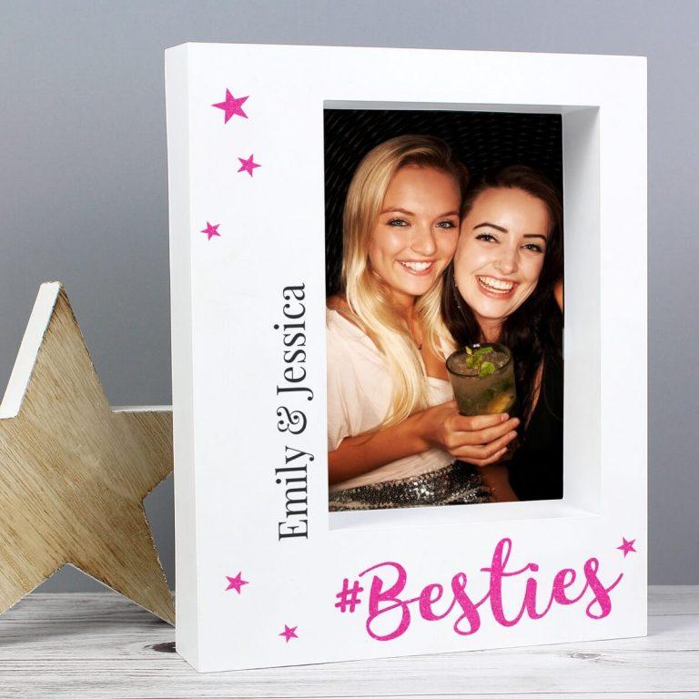 Personalised Besties 7×5 Box Photo Frame