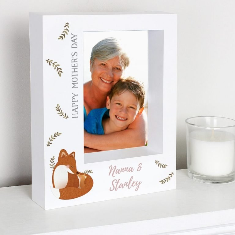 Personalised Mummy and Me Fox 7×5 Box Photo Frame