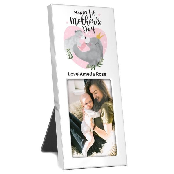 Personalised 1st Mothers Day Mama Bear 3×2 Photo Frame
