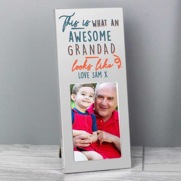 Personalised This Is What Awesome Looks Like Silver 2×3 Photo Frame