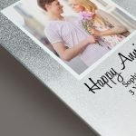 Personalised Heart & Swirl 4×4 Glitter Glass Photo Frame