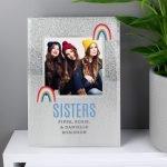 Personalised Rainbow 4×4 Glitter Instagram Glass Photo Frame