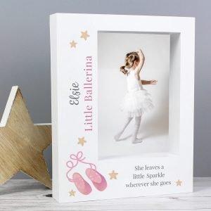 Personalised Swan Lake Ballet 7×5 Box Photo Frame