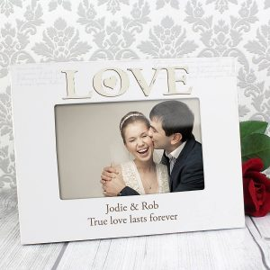 Personalised Love White 6×4 Photo Frame