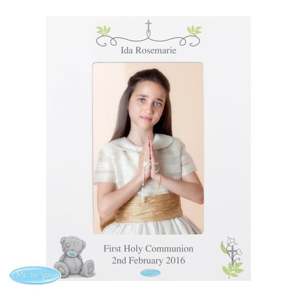 Personalised Me To You Religious Cross 6×4 Photo Frame