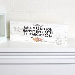 Personalised Shabby Chic Wooden Block Sign