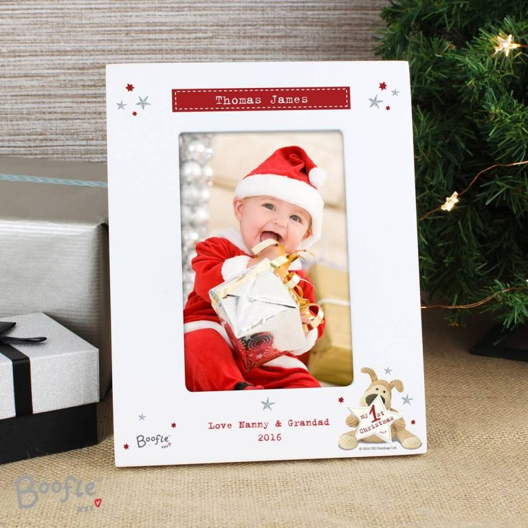 Personalised Boofle My 1st Christmas 6×4 Photo Frame