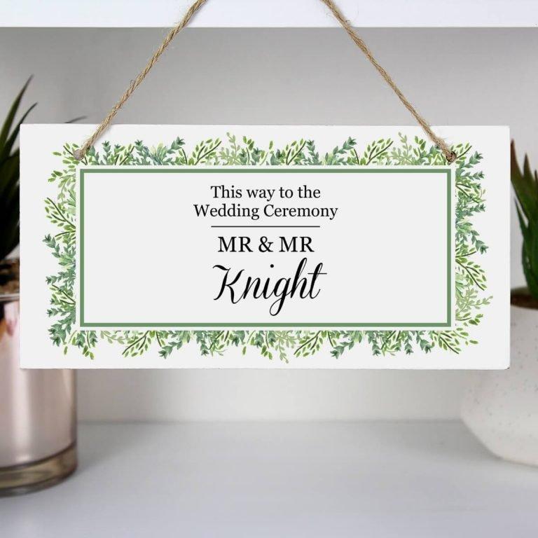 Personalised Fresh Botanical Wooden Sign