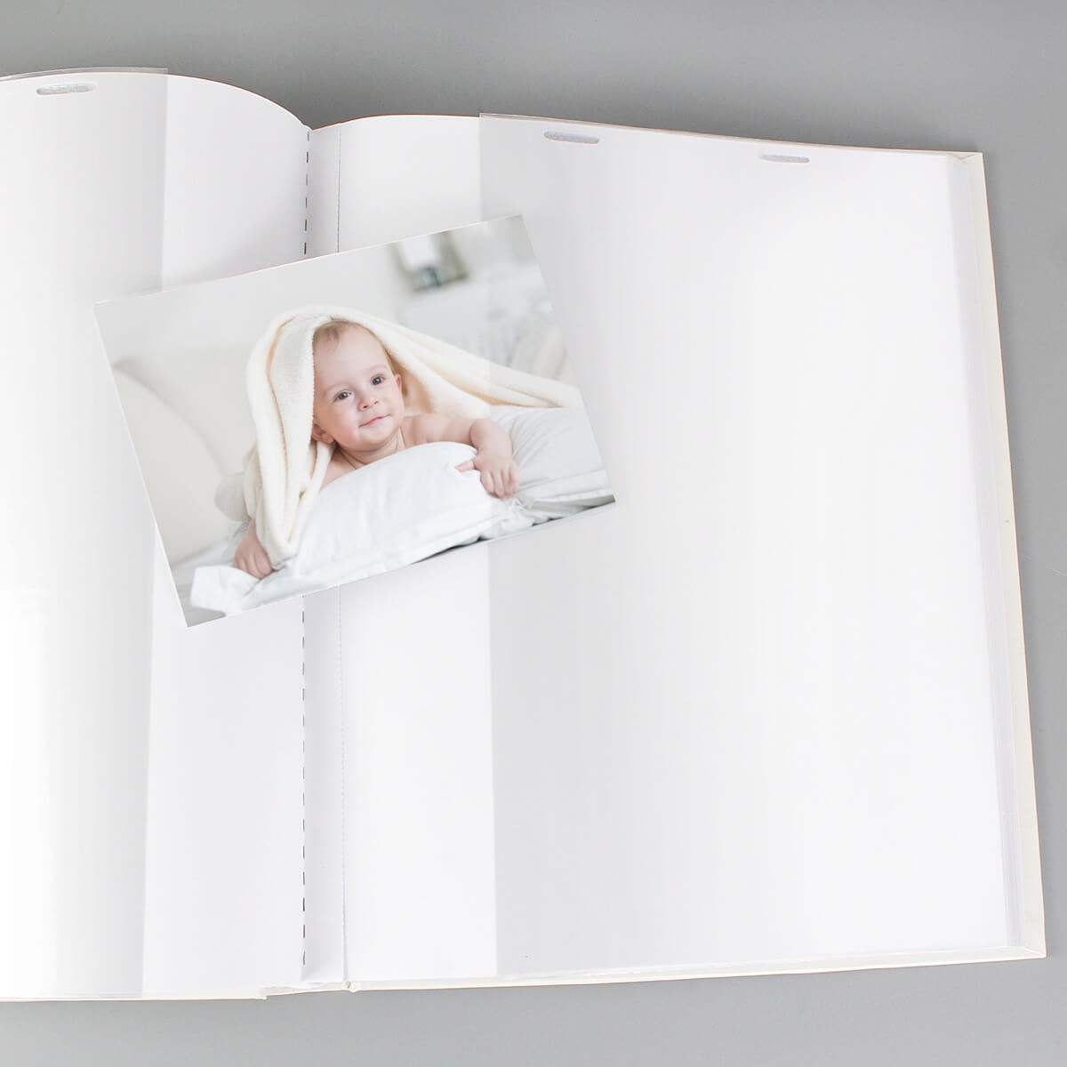 Personalised Whimsical Blue Church Album with Sleeves