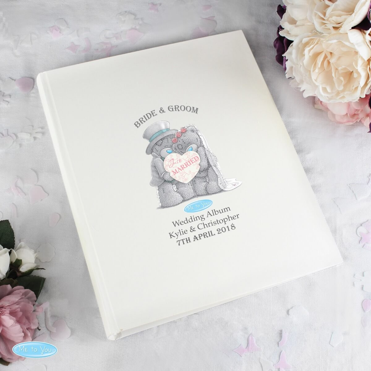 Personalised Me To You Wedding Album with Sleeves