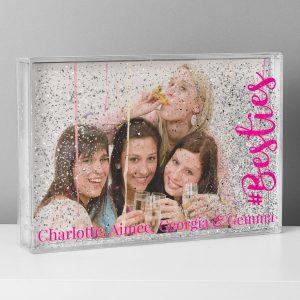 Personalised #Besties 6×4 Glitter Shaker Photo Frame
