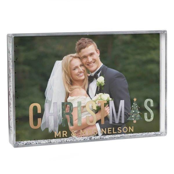 Personalised Christmas 6×4 Glitter Shaker Photo Frame