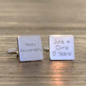 Personalised Cufflinks – Happy Anniversary