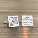 Personalised Cufflinks – Anniversary Calendar