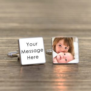 Personalised Cufflinks – Your Message & Photo