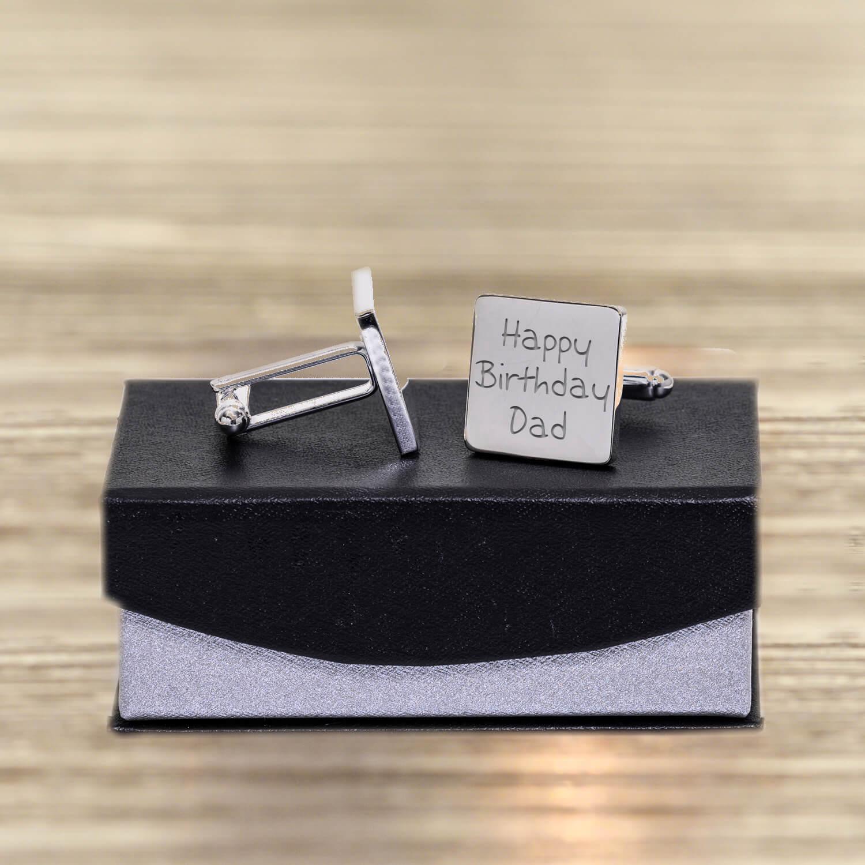 Personalised Cufflinks – Happy Birthday Dad