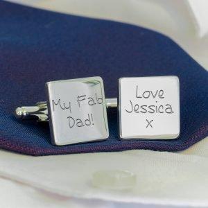 Personalised Cufflinks – My Fab Dad