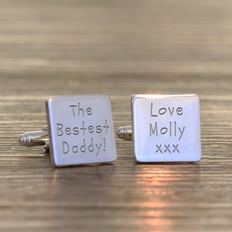 Personalised Cufflinks – The Bestest Daddy!