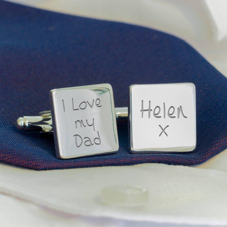 Personalised Cufflinks – I Love My Dad