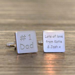 Personalised Cufflinks – #1 Dad