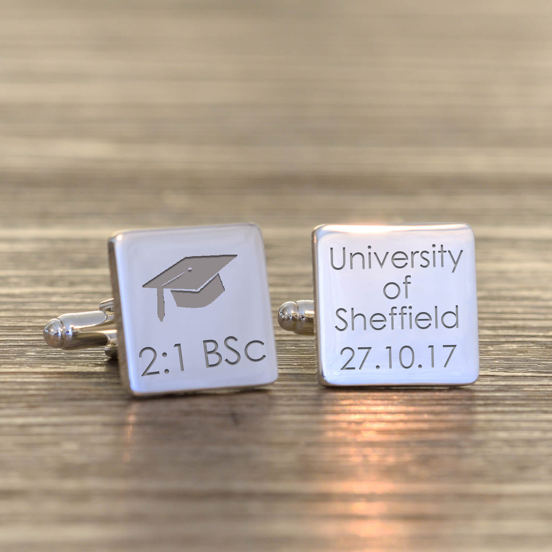 Personalised Cufflinks – Graduation