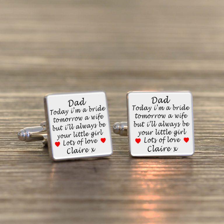 Personalised Cufflinks – Dad Wedding Day