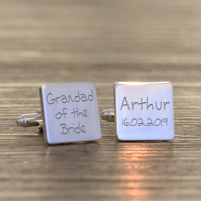 Personalised Cufflinks – Grandad of the Bride