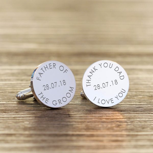Personalised Cufflinks – Thank You Dad Wedding Day