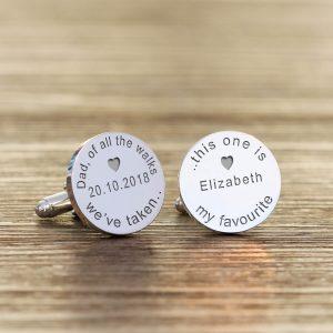 Personalised Cufflinks – Of All the Walks Wedding
