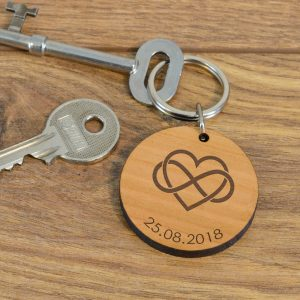 Personalised Wooden Key Ring – Infinity
