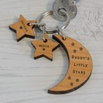 Personalised Wooden Key Ring – Little Stars