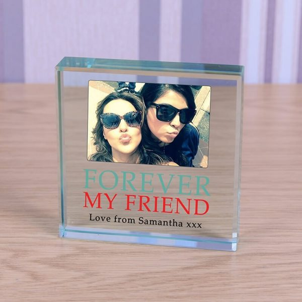 Personalised Glass Photo Frame – Forever my Friend
