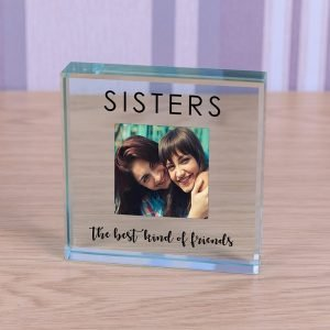 Personalised Glass Photo Frame – Sisters