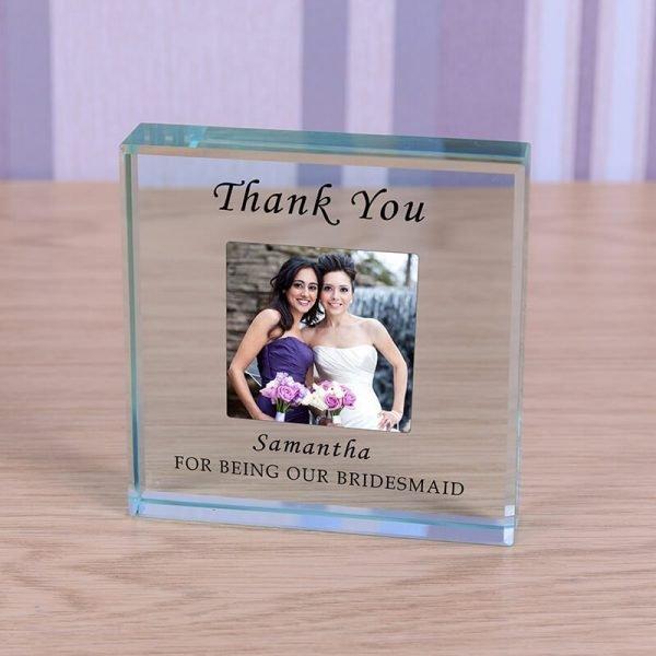 Personalised Glass Photo Frame – Bridesmaid