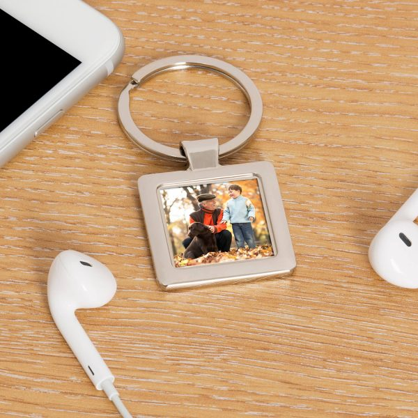 Personalised Silver Key Ring – Add Your Photo