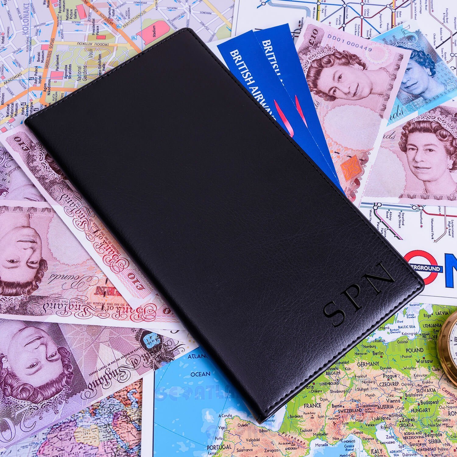 Personalised Travel Wallet – Initials