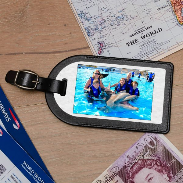 Personalised Leather Luggage Tag – Upload your Photo