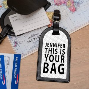 Personalised Leather Luggage Tag – Your Bag