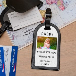 Personalised Leather Luggage Tag – Take Me With You