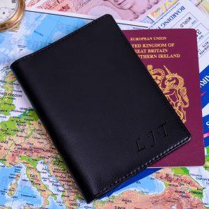 Personalised Passport Holder – Initials