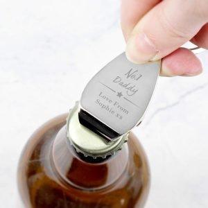 Personalised No.1 Bottle Opener Keyring