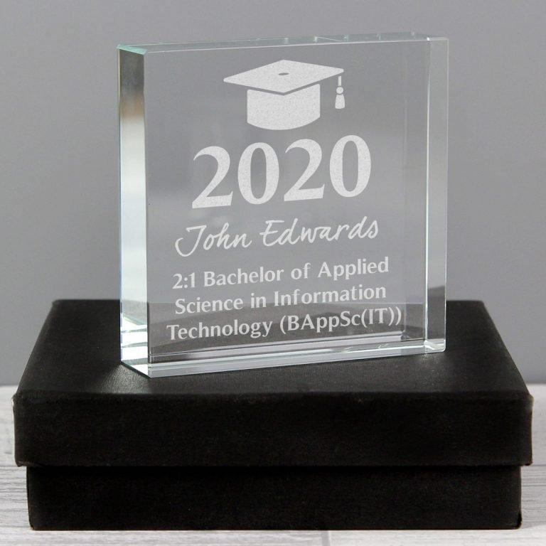 Personalised Graduation Large Crystal Token