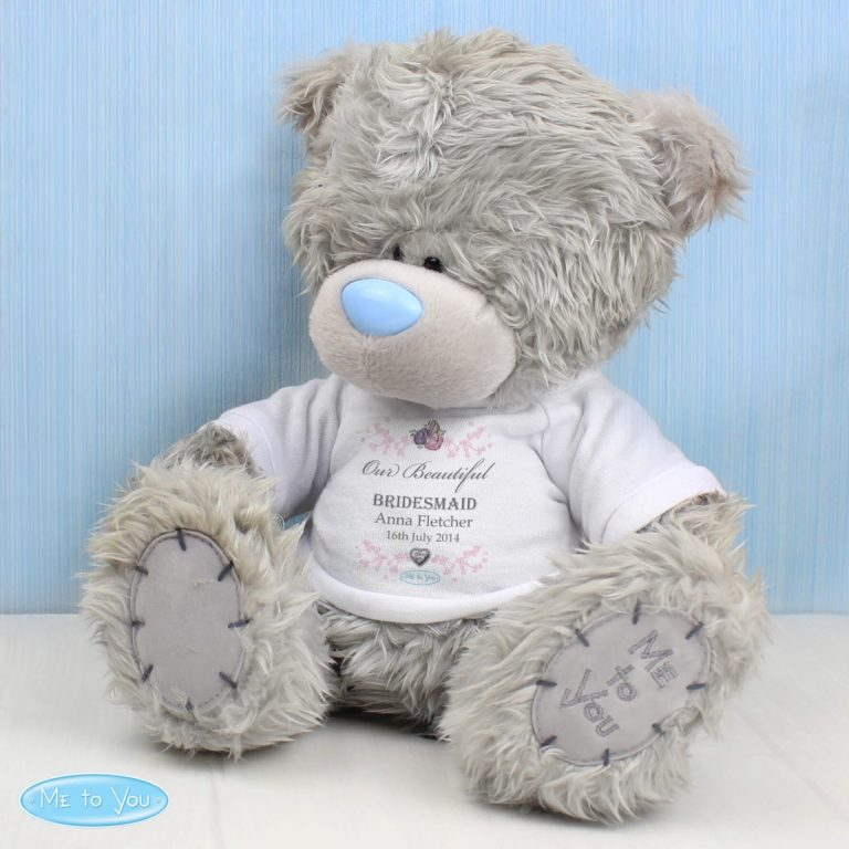 Personalised Me To You Teddy Bear for Bridesmaid and Flowergirl