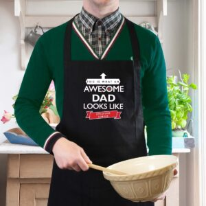 Personalised 'This is What an Awesome… Looks Like' Black Apron